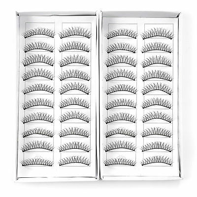 20 paire faux cils long croise maquillage cosmetique yeux extension eyelashes