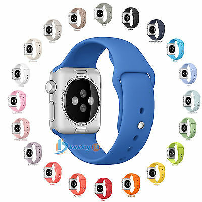 Sports Replacement Silicone Bracelet Strap Band For Apple Watch 38mm/42MM AU