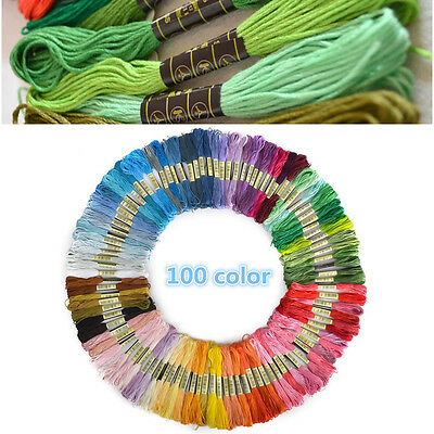 100X Craft Cotton Anchor Cross Stitch Stranded Embroidery Thread Floss Multicolo