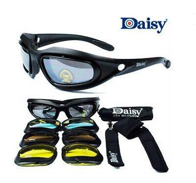 Motorcycle Googles Glasses - DAISY C5 MAT BLACK FRAME