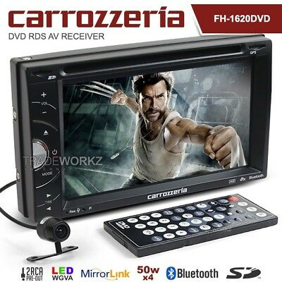 New CARROZZERIA FH-1620DVD Double DIN Mirror Link Car DVD Player Headunit Stereo