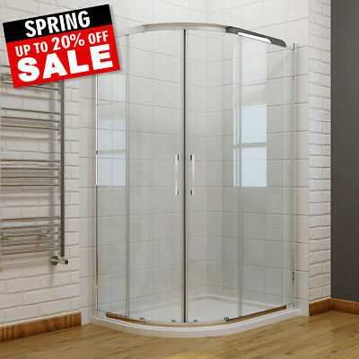 Offset Walk In Quadrant Shower Enclosure Corner Cubicle 6mm Glass Door And Tray