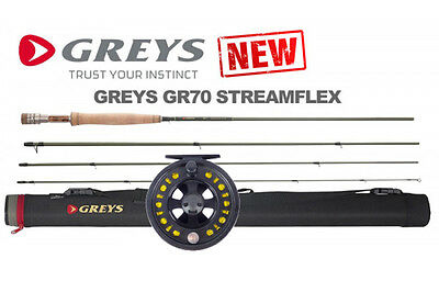 NEW 2016 GREYS GR70 STREAMFLEX River Fly Fishing Rods & FREE REEL & LOADED LINE!