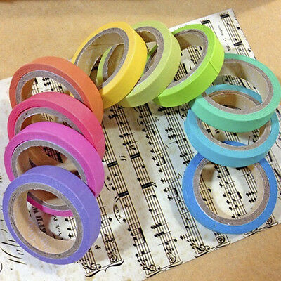 Rainbow Candy Scrapbook Washi Tape Masking DIY Decorative Adhesive Sticker *10