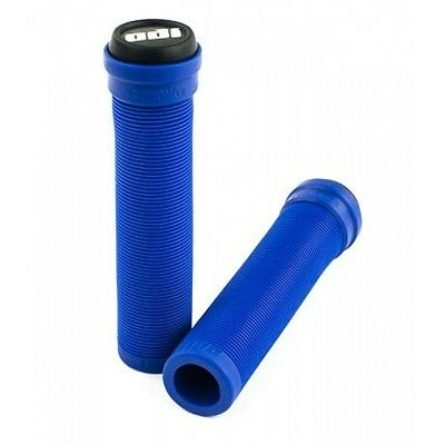 ODI Longneck Pro Flangeless Grips for Bikes , BMX & Scooters - Blue