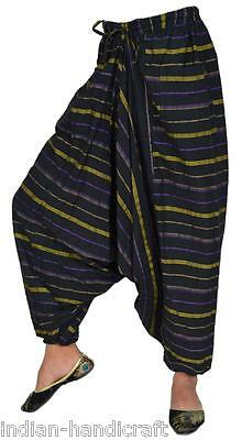 10 Cotton Stripes Boho Harem Trousers Gypsy Pants TR72