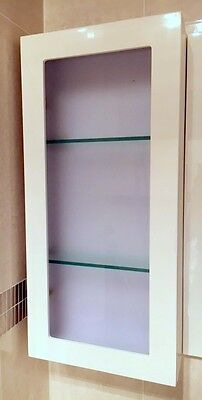 350mm  Shaving Cabinet with Frosted Glass Door