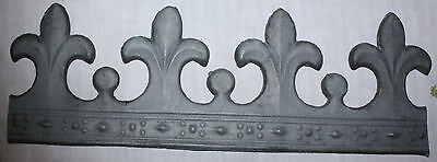 Antique French Fleur de Lis Zinc Frieze Molding Architectural Salvage Element