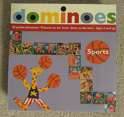 """Dominoes by MudPuppy Press-Educational Jumbo Dominoes Numbers & Pictures """"Sports"""