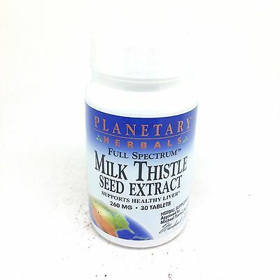 Planetary Herbals MILK THISTLE Seed Extract 260 MG 30 Tablets EXP 04/19
