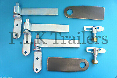 """3 x 6"""" Zinc Plated Tailgate Drop Side Hinge and Antiluce Set"""