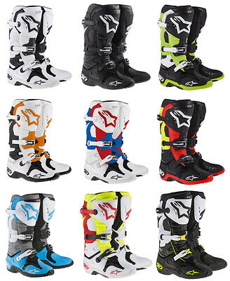 Alpinestars Mens Tech 10 MX Motocross Offroad Riding Boots