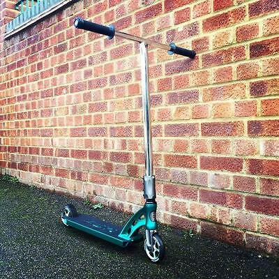 MGP MFX Vicious Custom Stunt Scooter - Teal / Chrome - FREE UK Delivery