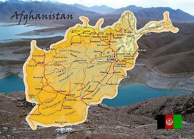 Afghanistan Country Map New Postcard