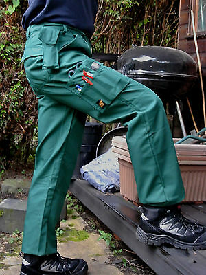 Green Or Grey Ambulance Paramedics Cargo Trouser Multi Pocket Work Combat Action