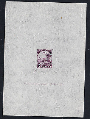 Liberia # 21 NH Defaced Sunken Proof on Transparent Paper in Unissued Violet