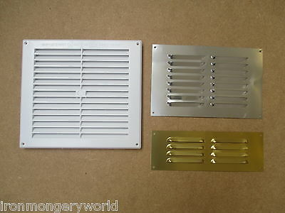 IN 3 SIZES Louvre Air Vent Louvered Ventilation Ducting Grille Cover LARGE SMALL