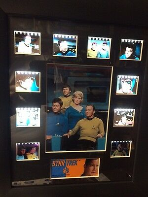 "Original Star Trek Film Cell Framed Matted Montage Photo 11"" X 13"" NEW"