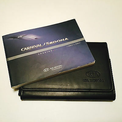 Kia Sedona & Carnival Handbook Service Book & Wallet Pack 2006 Onwards