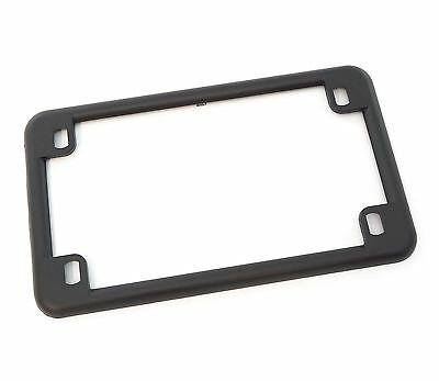 "Matte Black 4"" X 7"" - New Custom Emgo Motorcycle License Plate Frame - 86-42610"