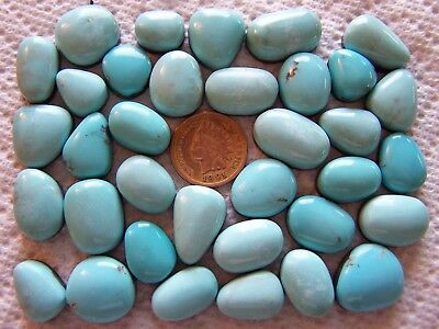 35 Campitos Turquoise 400 carat Cabochons Wholesale Lot Blue Iron Pyrite Cabs