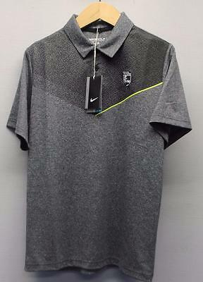 New SMALL Nike Junior Boys Dri Fit Polo polyester golf shirt Wildfire