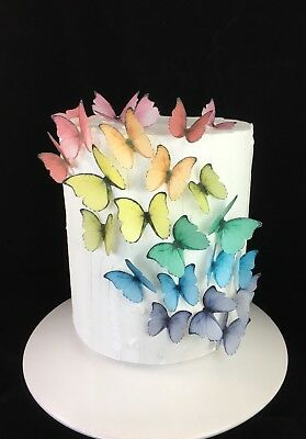 Butterfly Cupcake Topper Edible Decoration 10pc Princess Fairy Party Baptism Day