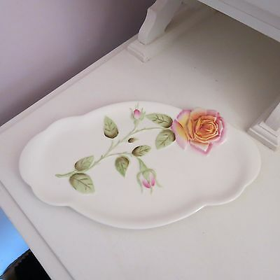 Lovely Royal Winton grimwades serving plate with pin embossed rose