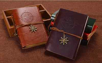 A6 80 Kraft pages + PU Leather Cover 6 Binder Journal / Travel Diary / Notebook