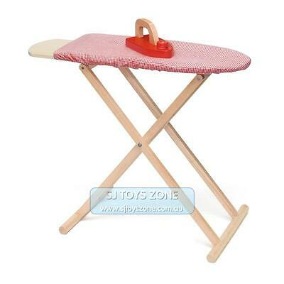Viga Wooden Ironing Board & Cloth Iron Set Kids Household Pretend Role Play Toy