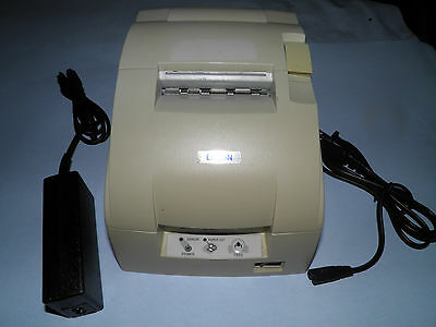 EPSON TM-U220D M188D POS Receipt Printer Parallel w Power Supply & Paralle cable