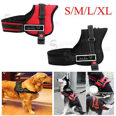 Non Pull Power Harness Strong Adjustable & Reflective Dog Puppy Vest Harnesses