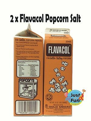 2 x 992g Genuine FLAVACOL Butter Popcorn Salt! Cinema Quality Popcorn Salt