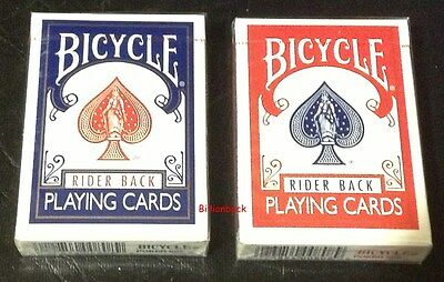 Bicycle Rider Back Playing Cards Poker RED + BLUE 2 decks Magic BRAND NEW SEALED