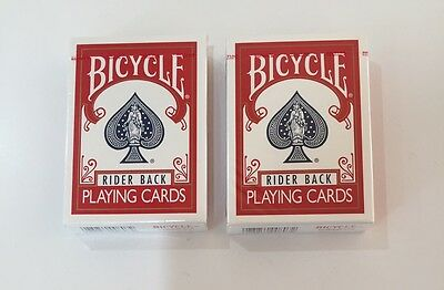 Bicycle Rider Back Playing Cards Poker 2 Decks RED Magic BRAND NEW SEALED