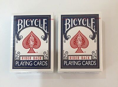 Bicycle Rider Back Playing Cards Poker 2 Decks BLUE Magic BRAND NEW SEALED