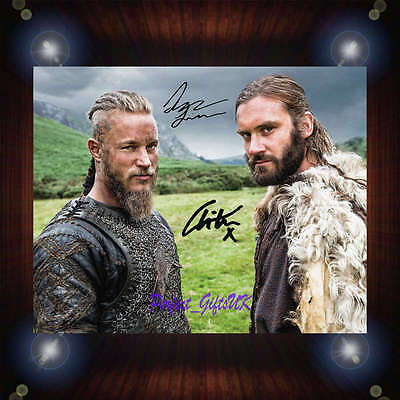 Vikings Travis Fimmel Clive Standen Signed Autographed Framed Photo/Canvas Print