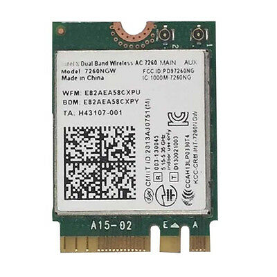 Top Intel Dual Band Wireless AC 7260NGW 867M NGFF Wifi Card for most Laptop