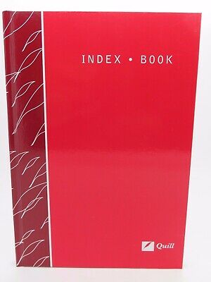 Quill A5 Index Book A-Z 148 x 210mm Ruled 80P Red Hard Cover - 10405*^