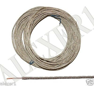 20m / 66 ft  29 AWG / 0.07mm²  Military Russian Shielded Teflon PTFE Wire MGTFE