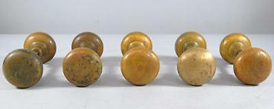 Five Sets Antique Brass Door Handles / Knobs
