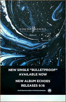 YOUNG GUNS Echoes 2016 Ltd Ed RARE Poster +FREE Rock Metal Alternative Poster!