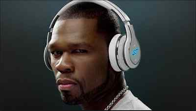 SMS Audio SYNC By 50 Cent Over-Ear Wireless Headphones - White Brand New