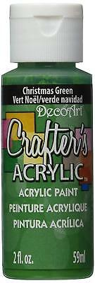 DecoArt Christmas Green Crafters Acrylic Paint 2oz, Craft Paint