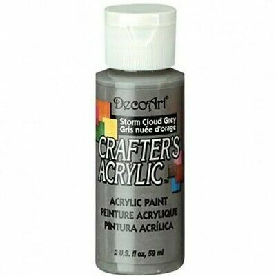 DecoArt Products Storm Cloud Grey Crafters Acylic 2oz
