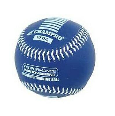 """New CHAMPRO Weighted Training Official 9"""" Baseball Strengthen Arm 10 oz. Blue"""