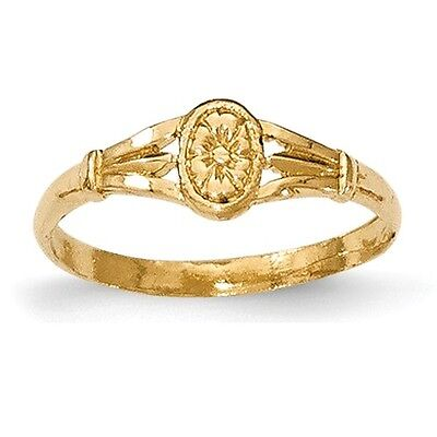 14K Yellow Gold Polished Oval Baby Ring