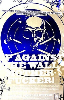 Up Against The Wall, Motherfucker - Scarce Book Promo Poster For 1960's Radicals