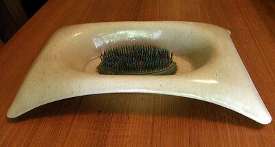 Mid Century Modern Valley Vista Calif Pottery Shallow Cut Flower Dish with Frog