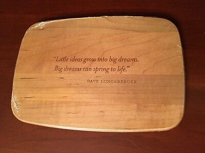 NEW Longabergerr 2007 Home Office 10th Anniversary Wooden Engraved Lid